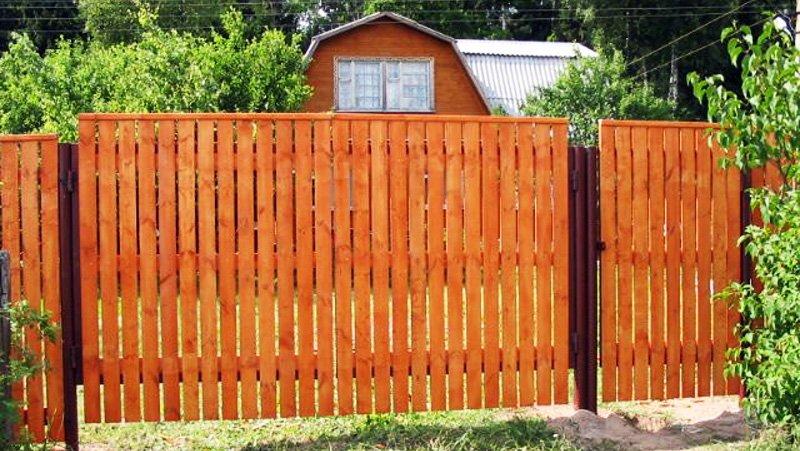 Деревянные заборы и ворота фото